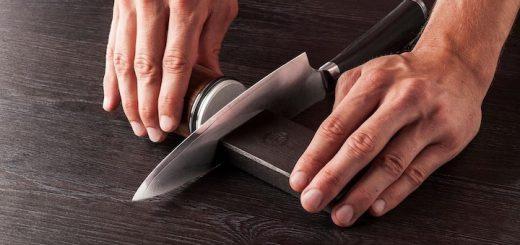 Rollschleifer schleift Küchenmesser 520x245