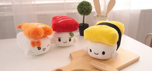Sushi Kissen Schneidbrett 520x245