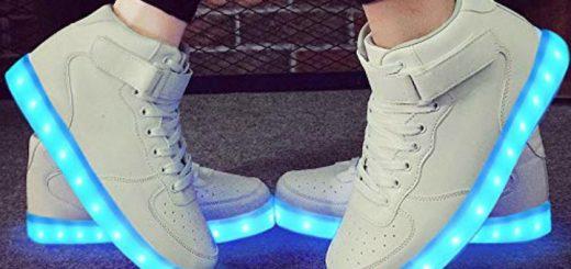 Zwei Paar LeKuni LED Sneaker in Weiß 520x245