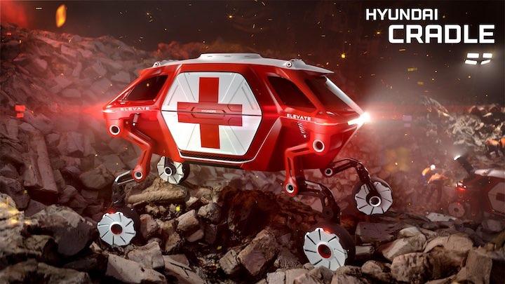 Hyundai Elevate in Katastrophengebiet