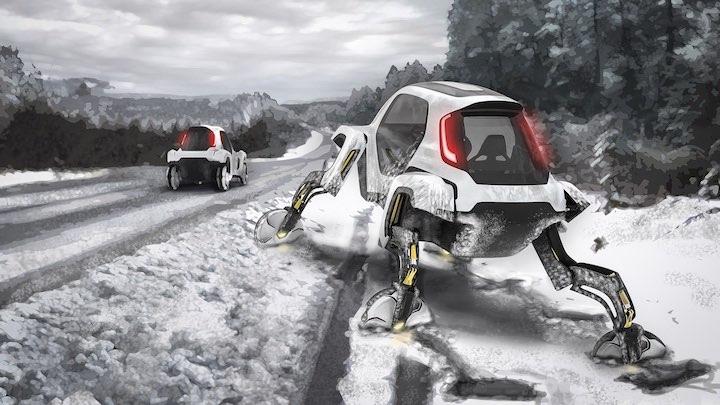 Hyundai Elevate in Schneelandschaft