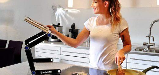 Movinto Laptop Ständer als Kochbuchhalter 520x245