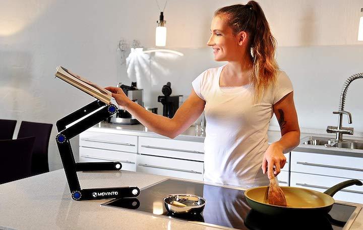 Movinto Laptop Ständer als Kochbuchhalter