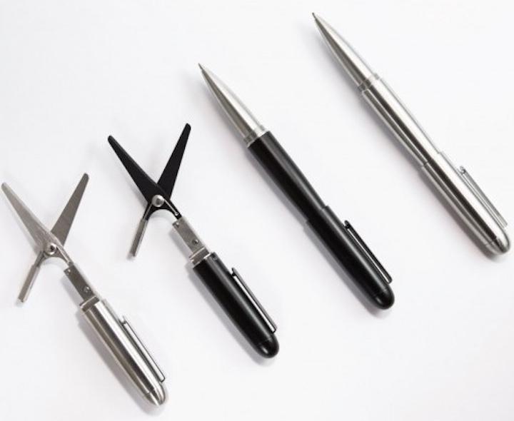 Xcissor Pen Kugelschreiber silber schwarz