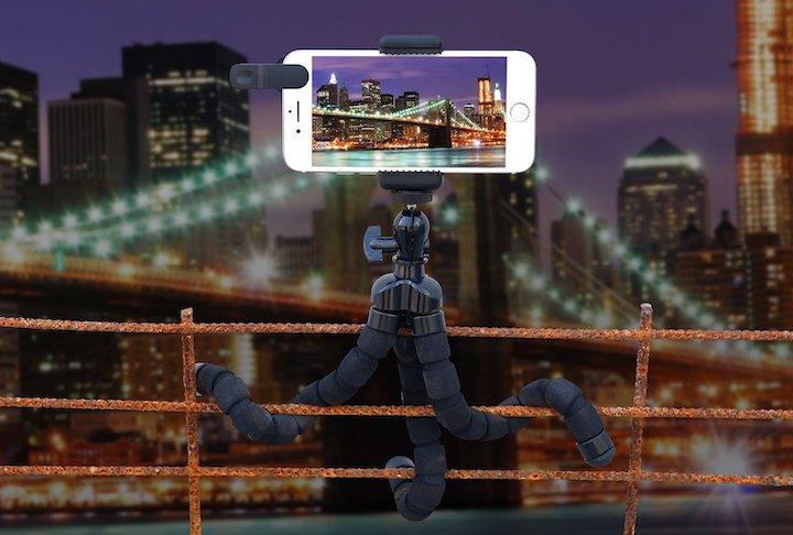 iPhone Stativ Gel%C3%A4nder Stadt