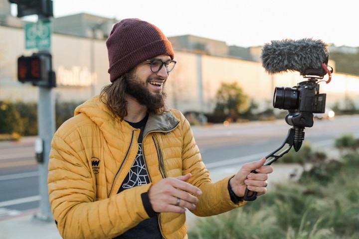Vlogger mit SwitchPod