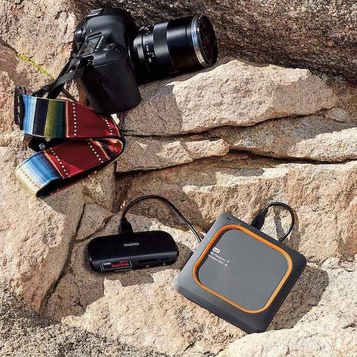 WD My Passport Wireless SSD mit Kamera