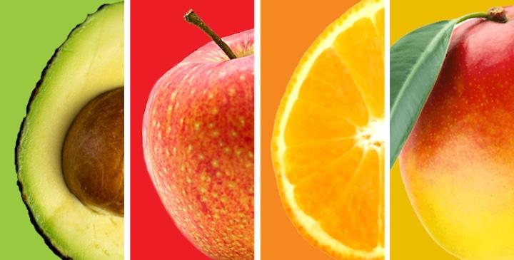 Avocado Apfel Orange und Mango perfekt f%C3%BCr StixFresh