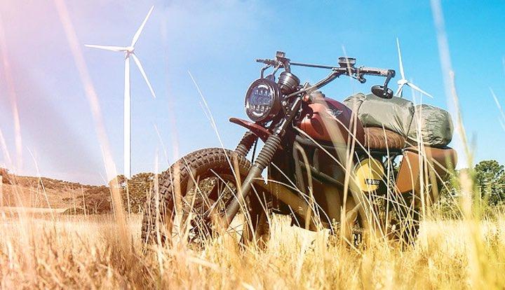 FLY FREE Motorrad Gras