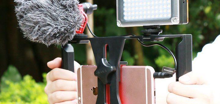 iPhone 6s Smartphone Kamerarig Hände Mikrofon Licht 720x340