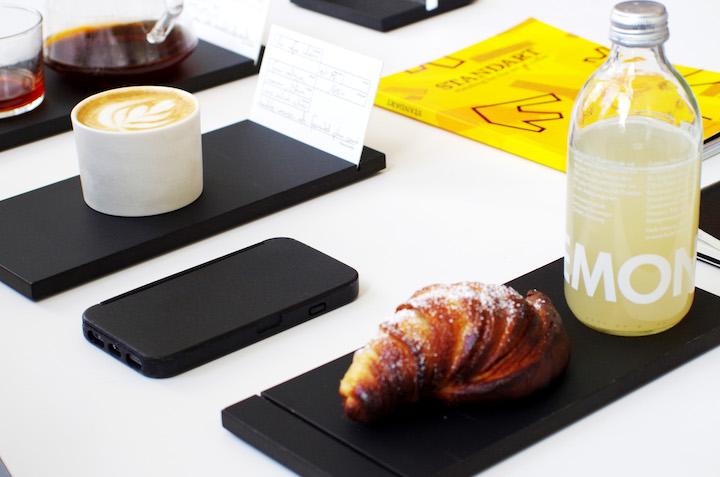 Klak Case Kaffee Limonade Buch Crossaint