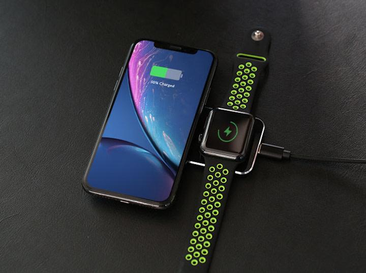 iPhone und Apple Watch laden auf Miizer USB C Hub