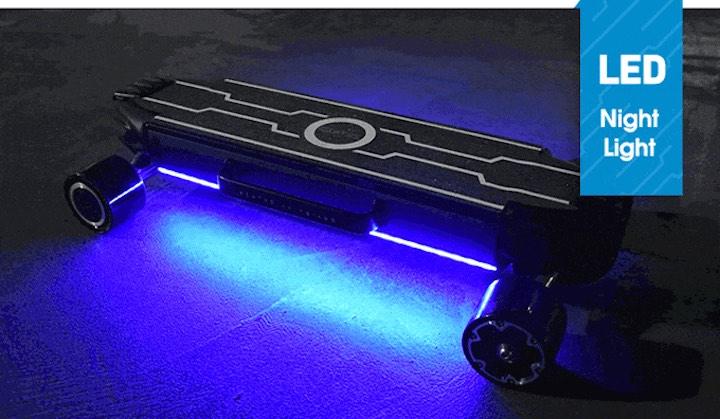 Zetazs mit aktivierter LED Beleuchtung