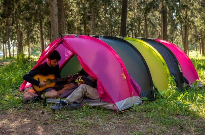 RhinoWolf 2.0: All In One Zelt mit Matratze und Schlafsack