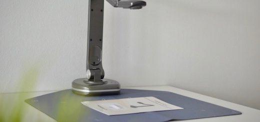 JOURIST DC80 Dokumentenkamera auf Sacnmatte 520x245