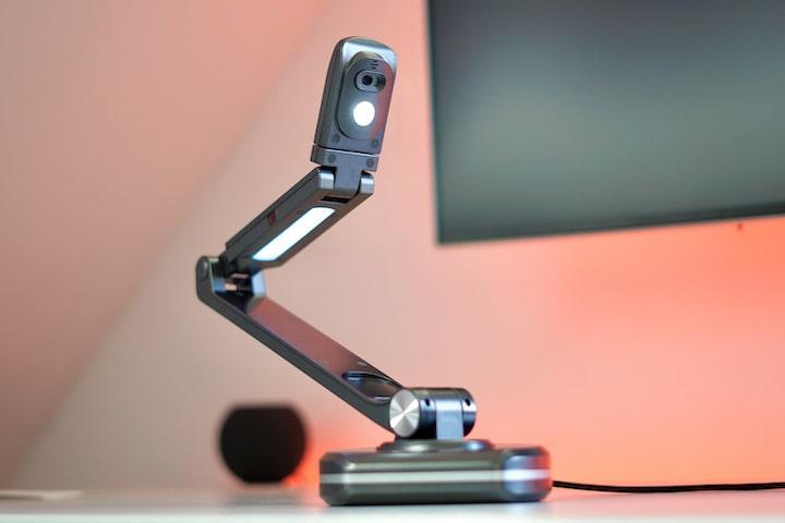 Jourist DC80 Dokumentenscanner Kamera auf einem Schreibtisch