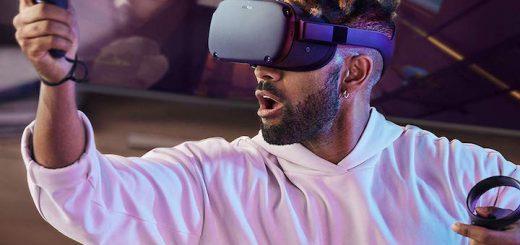 Mann spielt mit Oculus Quest 520x245