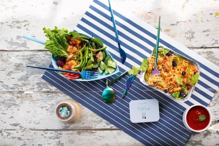 Outlery mit Essen