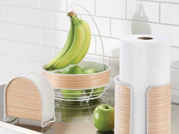 iDesign Obstschale K%C3%BCchent%C3%BCcher Schubfach Apfel Banane