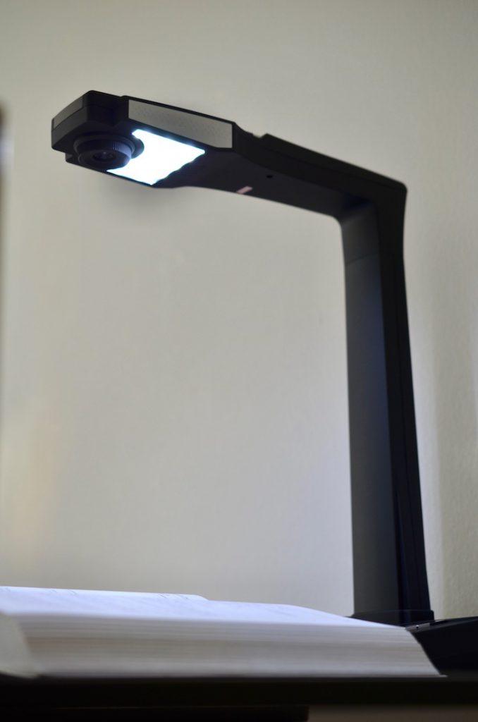 JOURIST Buchscanner mit Lampe 678x1024