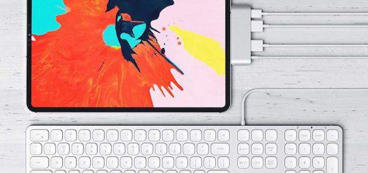 iPad Pro Satechi USB C Hub Kopfhörer Tastatur 520x245