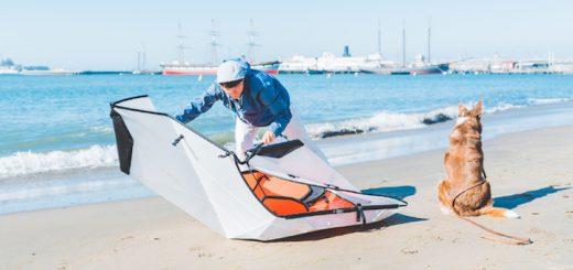Mann baut Oru Kayak Inlet zusammen 520x245