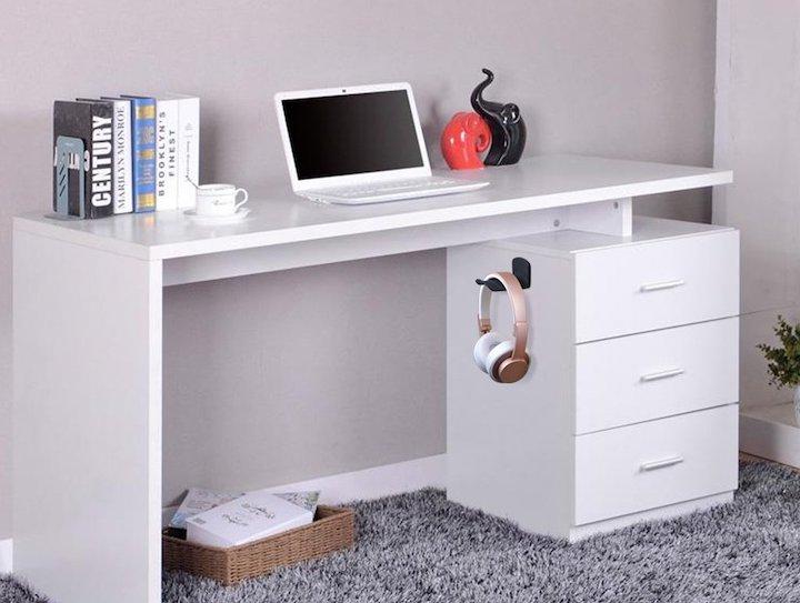 Neetto Kopfh%C3%B6rer Halterung Schrank Schreibtisch B%C3%BCcher Laptop