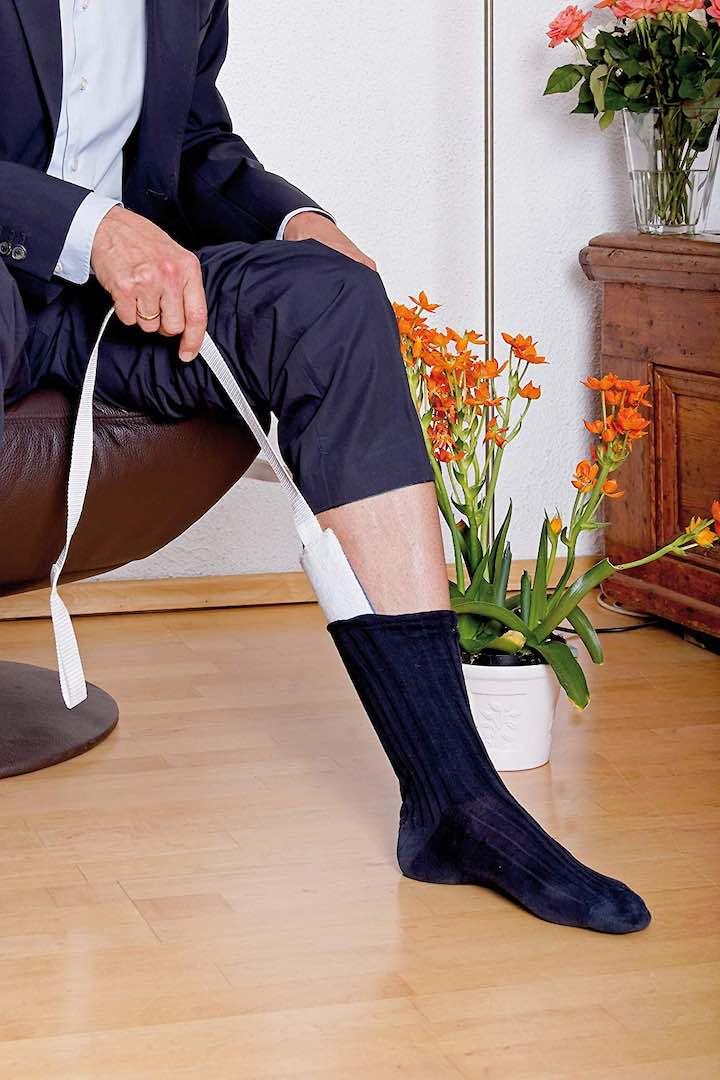 Strumpfanziehhilfe Bein H%C3%A4nde Pflanze