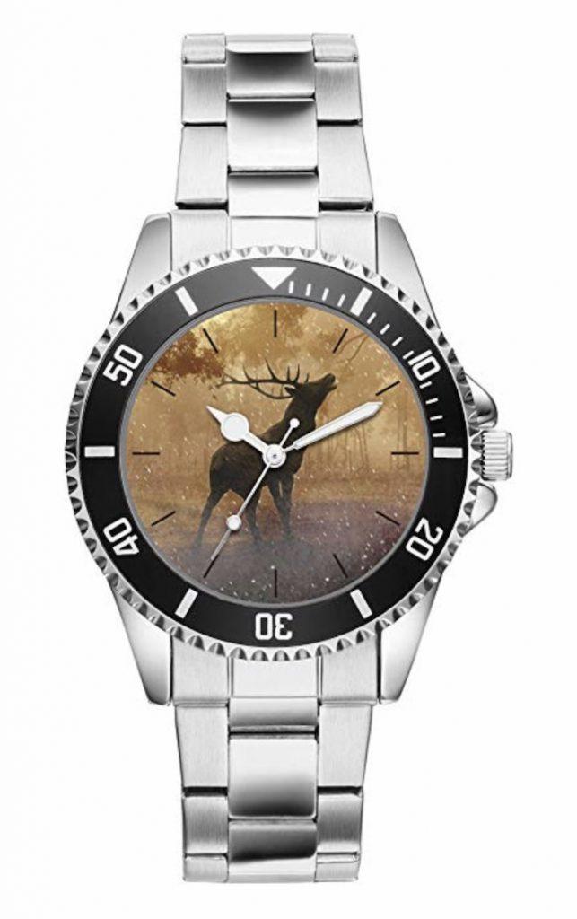 Armbanduhr mit Hirschmotiv 643x1024