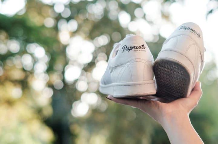Hand Paprcuts Sneaker Baum