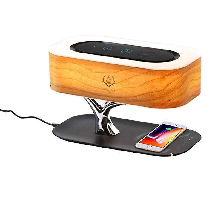 Nourich Nachttischlampe mit integriertem Lautsprecher Handy
