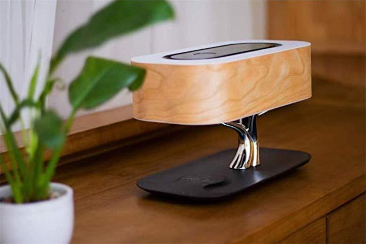 Nourich Nachttischlampe mit integriertem Lautsprecher mitz Pflanze