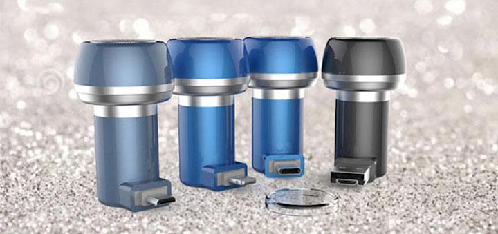 Pocketshaver mit vier verschiedenen Anschl%C3%BCssen