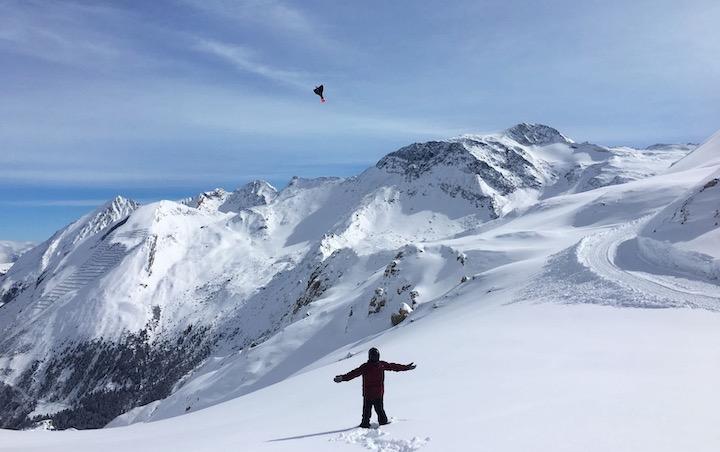 Schnee Berge AER Mensch