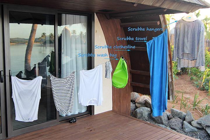 Scurbba Waschset Fenster W%C3%A4scheleine Kleidung