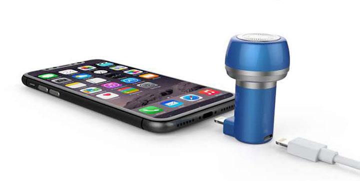 Verwendung von Pocketshaver mit Smartphone oder Ladekabel