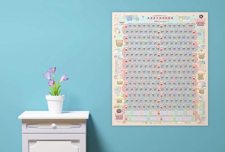 Clever mw Babysteps Rubbelkalender Komode Pflanze