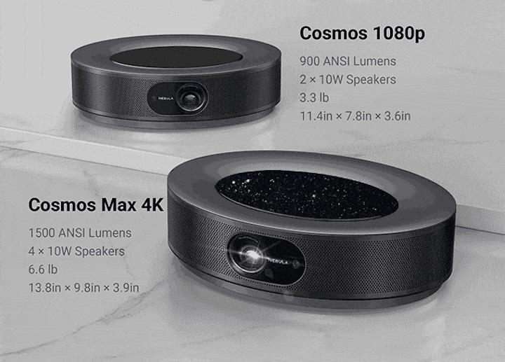 Nebula Cosmos 1080p und Max 4K im Vergleich