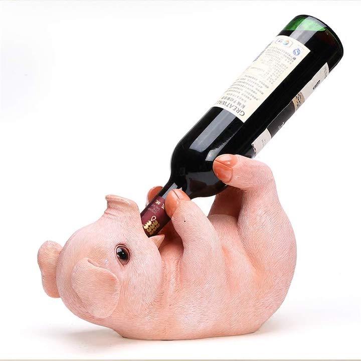 Weinflaschenhalter Schwein
