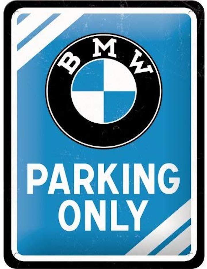 BMW Parking Only Schild
