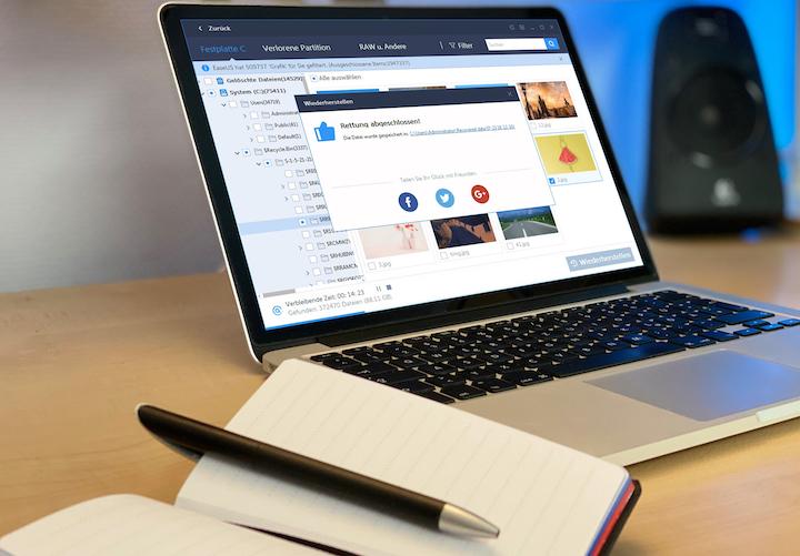 EaseUS Software Mac Lautsprecher Notizblock Stift