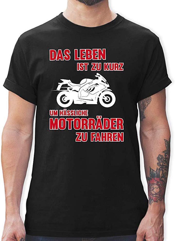 T Shirt Das Leben ist zu kurz um h%C3%A4ssliche Motorr%C3%A4der zu fahren
