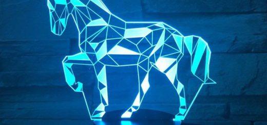 3D Lampe Pferd