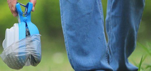 RoyalCare Hundekotgreifer Wiese Hand Jeans 520x245