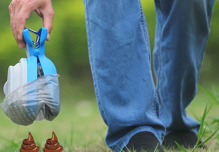 RoyalCare Hundekotgreifer Wiese Hand Jeans