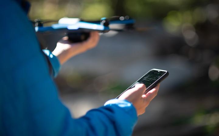 Skydio 2 wird per Handy gestartet