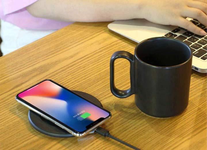 Tassenw%C3%A4rmer iPhone Hand Tastatur