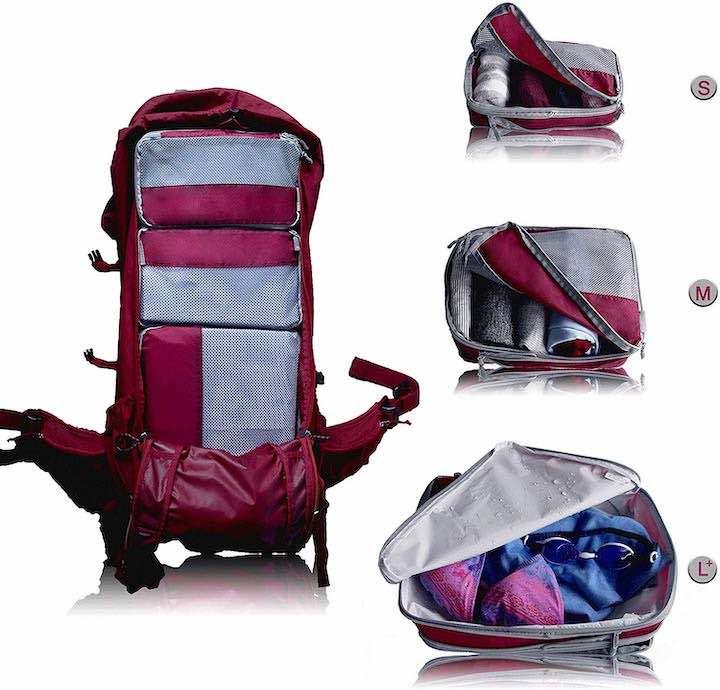 VEL DUDE Packtaschen im Rucksack