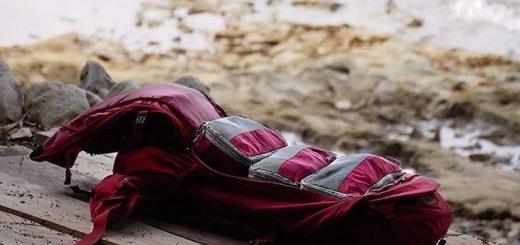 VEL DUDE Packwürfel im Rucksack gepackt