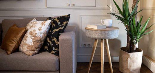 Victrola Couchtisch Kissen Sofa Pflanze 520x245